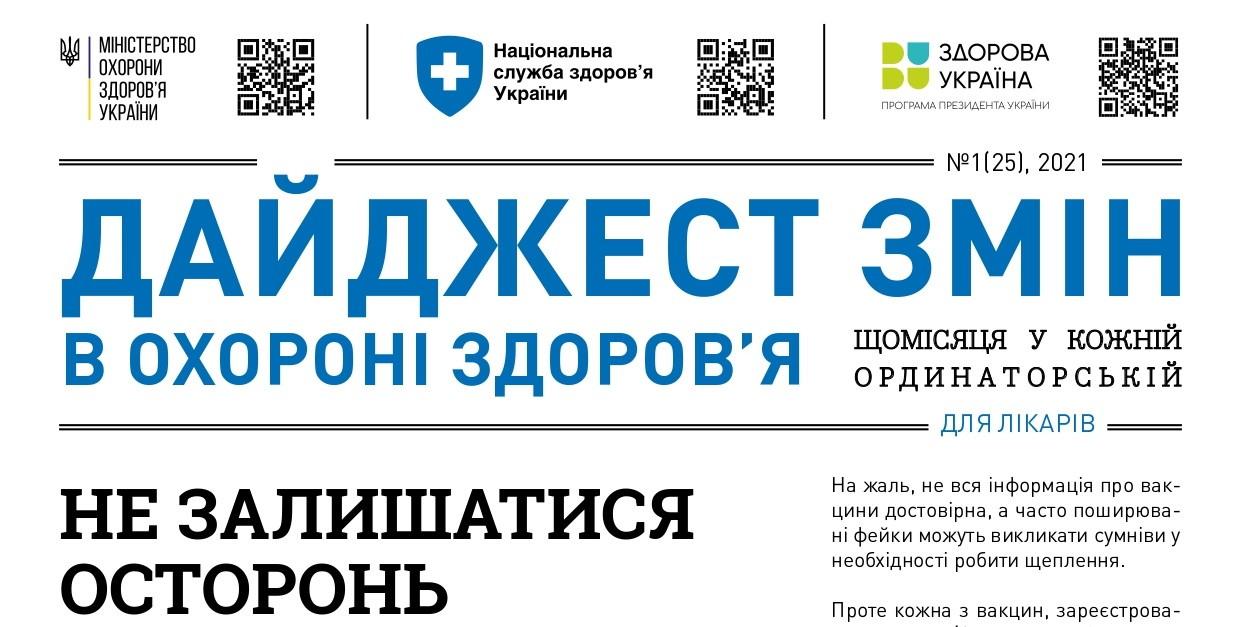 Дайджест змін в охороні здоров'я вересень 2021 року